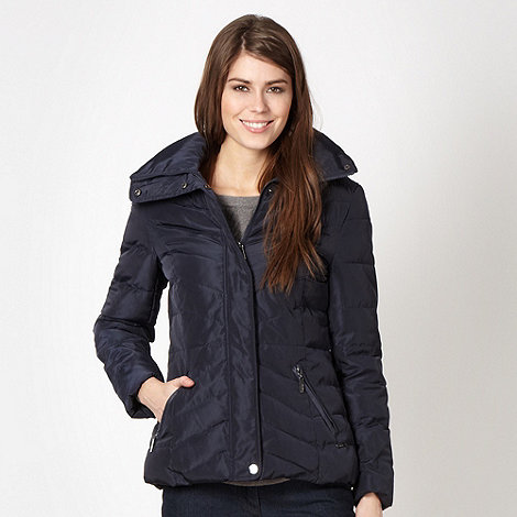 Maine New England - Navy short padded jacket