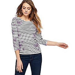 Maine New England - Lilac striped floral print top