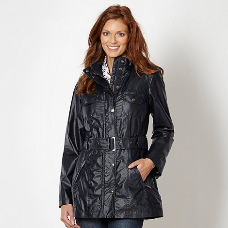 Maine New England - Navy belted waxed jacket