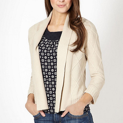 Maine New England - Natural diamond knit cardigan