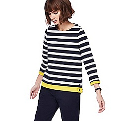 Maine New England - Navy and white striped top