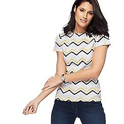 Maine New England - Multi-coloured zig zag print t-shirt