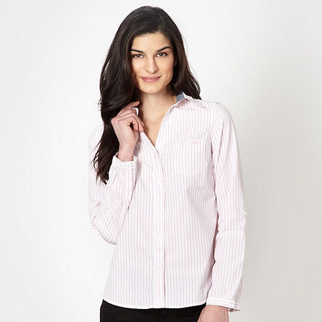 Maine New England - Pale pink striped shirt
