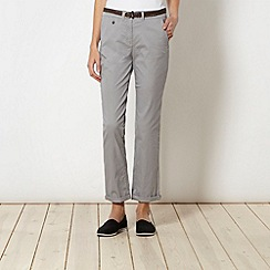 Maine New England - Light grey belted chinos