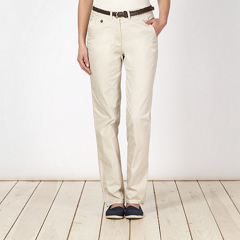 Maine New England - Natural belted chinos