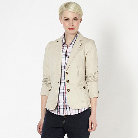 Maine New England - Beige cotton button blazer