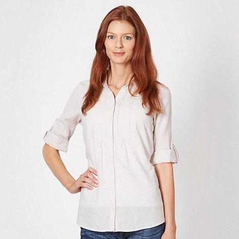 Maine New England - Natural linen blend shirt