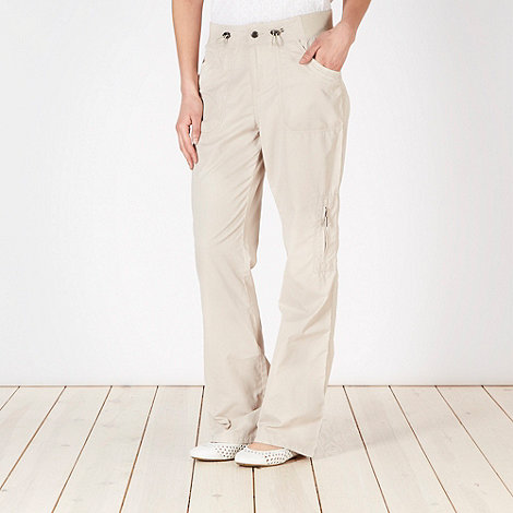 Maine New England - Natural woven six pocket trousers