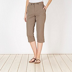 Maine New England - Taupe textured stitch short