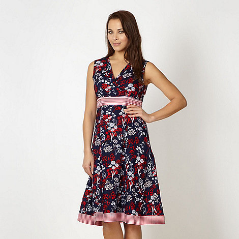 Maine New England - Navy blossom dress