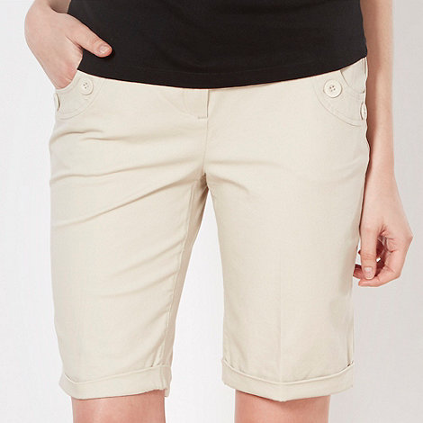Maine New England - Natural button detail shorts