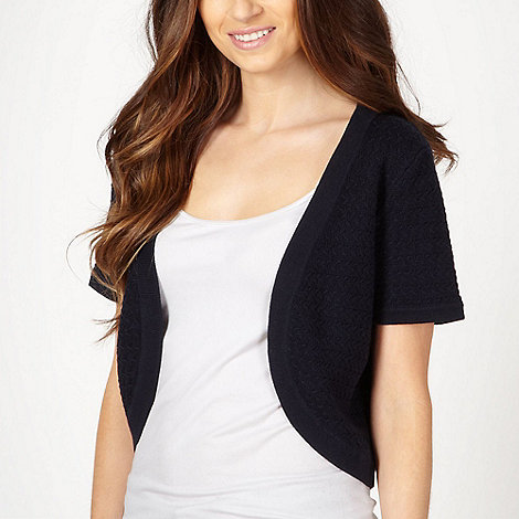 Maine New England - Navy textured shrug