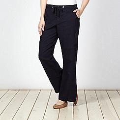 Maine New England - Navy linen blend trousers