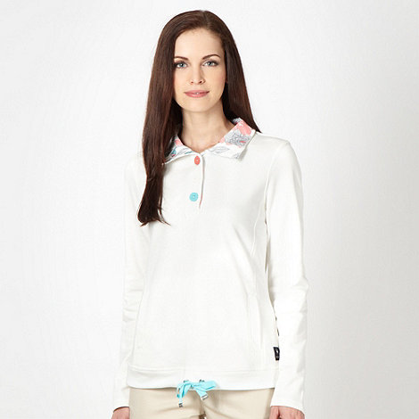 Maine New England - Off white half button neck sweat top