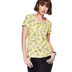 Maine New England - Yellow floral print top