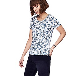 Maine New England - White floral print top