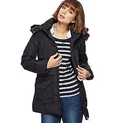 Maine New England - Black faux fur coat