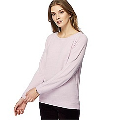Maine New England - Lilac textured striped jumper