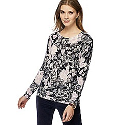 Maine New England - Navy floral print jumper