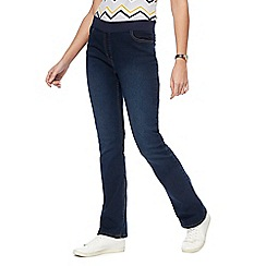 Maine New England - Dark blue ribbed waistband bootcut jeggings