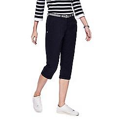 Maine New England - Navy cropped chino shorts