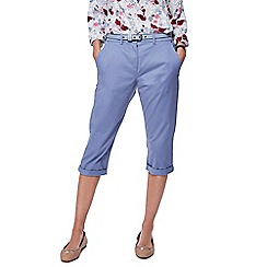 Maine New England - Light blue cropped chino shorts