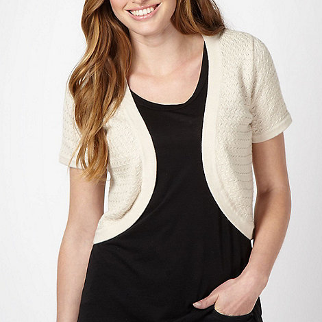 Maine New England - Natural textured woven shrug