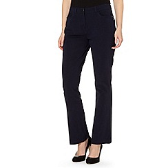 Maine New England - Navy two way stretch trousers