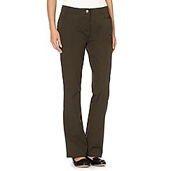 Maine New England - Khaki two way stretch trousers