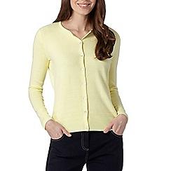 Maine New England - Light yellow ultra soft cardigan