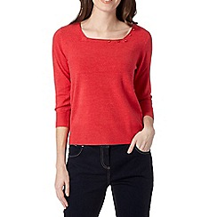 Maine New England - Red ultra soft square neck jumper