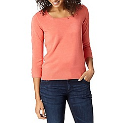 Maine New England - Dark peach empire neck jumper
