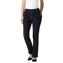Maine New England - Dark blue button detail jeggings