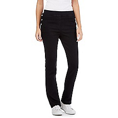 Maine New England - Black side sailor button jeggings