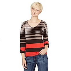 Maine New England - Chocolate striped button top