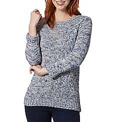 Maine New England - Grey crew neck tweed jumper