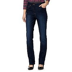 Maine New England - Dark blue slim bootcut jeans