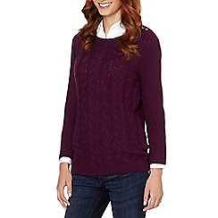 Maine New England - Purple cable knit jumper