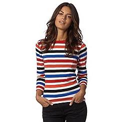 Maine New England - Cream bright striped top