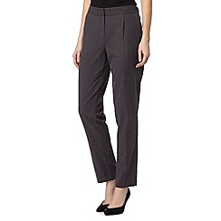 Maine New England - Dark grey flannel elasticated trousers