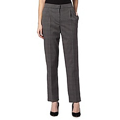 Maine New England - Dark grey elasticated checked trousers