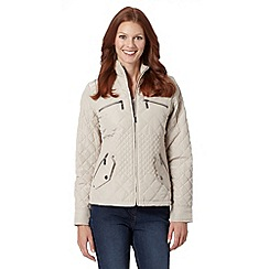 Maine New England - Natural quilted funnel neck jacket