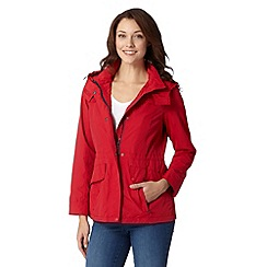 Maine New England - Red shower resistant parka jacket