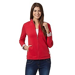 Maine New England - Red funnel neck sweat jacket