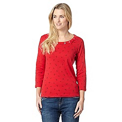 Maine New England - Red anchor printed top