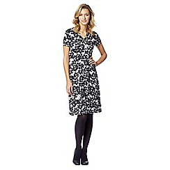 Maine New England - Navy floral jersey dress
