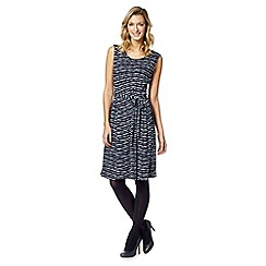 Maine New England - Navy spotted self tie dress