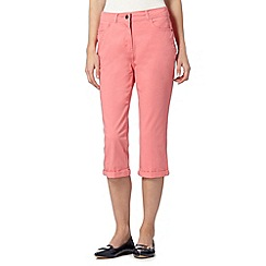Maine New England - Pink cropped soft stretch trousers