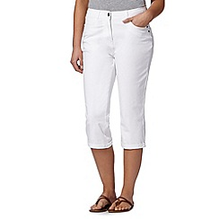 Maine New England - White pocket cropped trousers