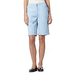 Maine New England - Pale blue button soft stretch shorts